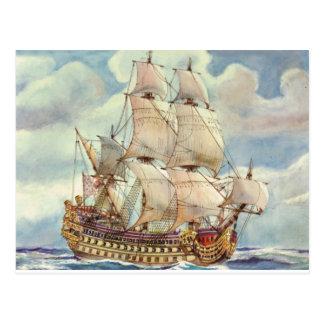 Le Terrible, buque de guerra de Louis XIV Postales