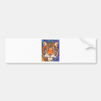 """""""Le Tigre"""" The Tiger Stained Glass Style Art! Bumper Sticker"""
