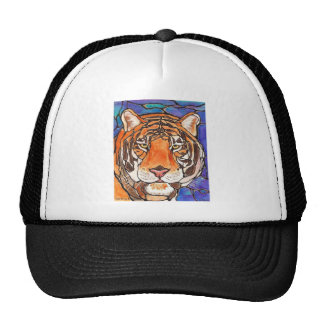 """Le Tigre"" The Tiger Stained Glass Style Art! Trucker Hat"