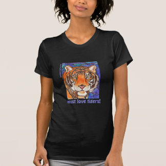 """""""Le Tigre"""" The Tiger Stained Glass Style Art! Tee Shirt"""