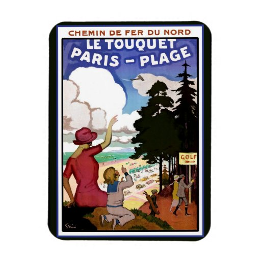 Le Touquet Poster Rectangle Magnet
