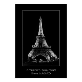 LE TOUR EIFFEL, PARIS, FRANCE POSTER