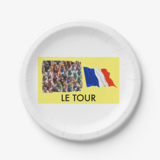 Le Tour Paper Plate