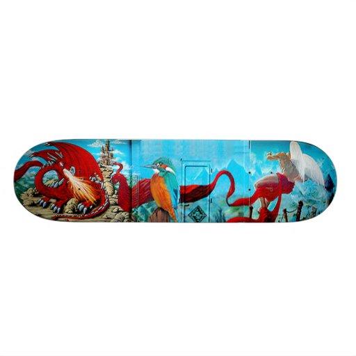 Le Transformateur - cubierta del mural del arte de Skateboard