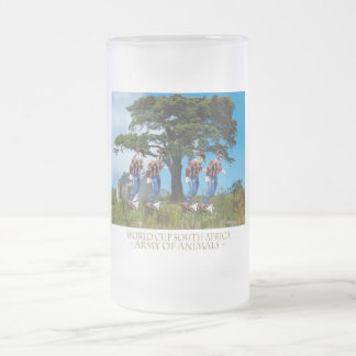 Le Tree Dribble Frosted Glass Beer Mug