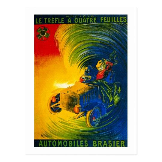 Le Trefle A Quatre Feuilles - Automobiles Brasier Postcard
