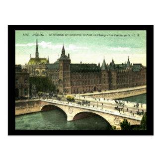 Le Tribunal de Commerce, Paris, France Vintage Postcard