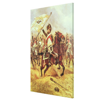 'Le Trophee', 1806, 4th Dragoon Regiment, 1898 Canvas Print