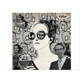 Le Typewriter Album Cover Postcard