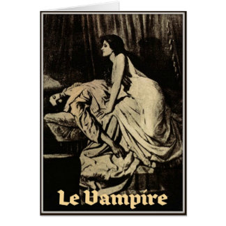 Le Vampire by Burne-Jones 1897 Greeting Card