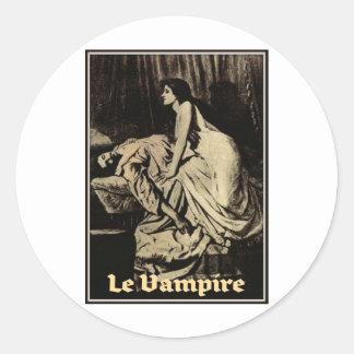 Le Vampire de Burne-Jones 1897 Pegatina Redonda