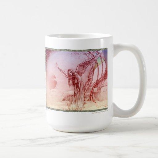 """""""Le veo"""" la taza de café de cerámica blanca"""
