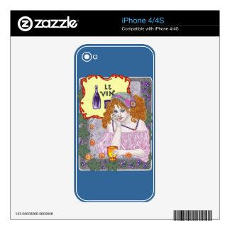 Le Vin Deux iPhone 4S Skin