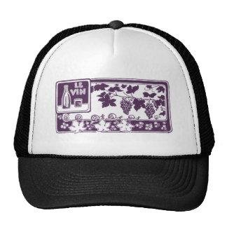 Le Vin, Vintage Wine Label Trucker Hat