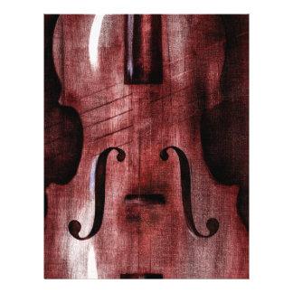 Le Violon Rouge el violín rojo Flyer A Todo Color