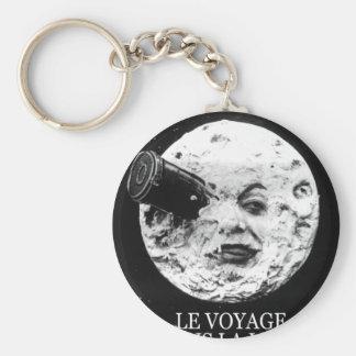 Le Voyage Dans La Lune (A Trip to the Moon) Basic Round Button Keychain