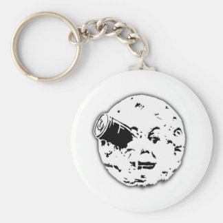 Le Voyage dans le Lune Man In Moon Basic Round Button Keychain