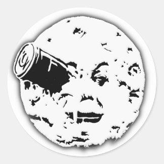 Le Voyage dans le Lune Man In Moon Classic Round Sticker