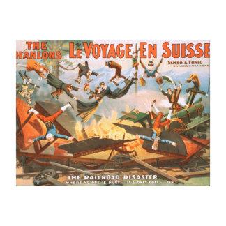 Le voyage en Suisse - The Railroad Disaster Canvas Print