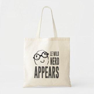 Le wild nerd appears meme tote bag
