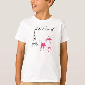 Le Woof Pink Poodle in Paris T-Shirt