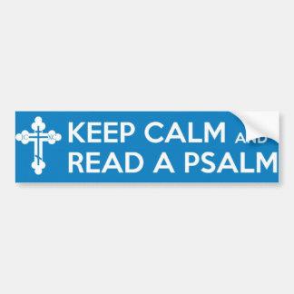 Lea a una pegatina para el parachoques del salmo etiqueta de parachoque