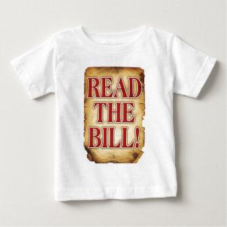 Lea al Bill Playera De Bebé