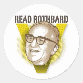 Lea al pegatina de Rothbard