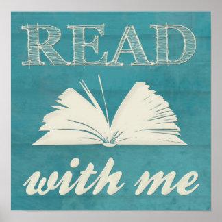 """""""Lea conmigo"""" la impresión Póster"""