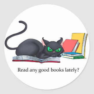 ¿Lea cualquier buen libro últimamente? Pegatina Redonda
