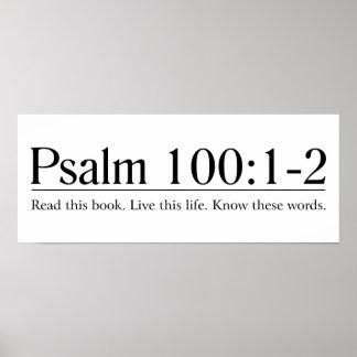 Lea el 100:1 del salmo de la biblia - 2 póster