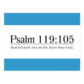 Lea el 119 105 del salmo de la biblia postal