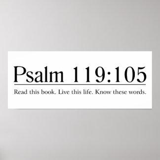 Lea el 119:105 del salmo de la biblia póster