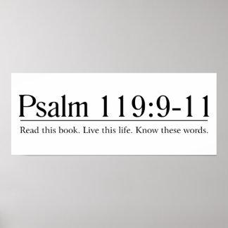 Lea el 119:9 del salmo de la biblia - 11 póster