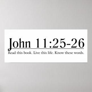 Lea el 11:25 de Juan de la biblia - 26 Póster