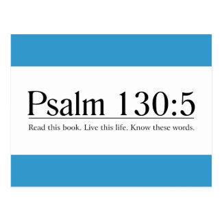Lea el 130 5 del salmo de la biblia tarjetas postales