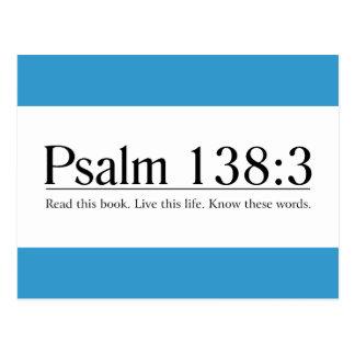 Lea el 138:3 del salmo de la biblia postales