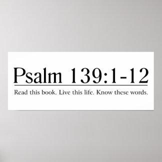 Lea el 139:1 del salmo de la biblia - 12 póster