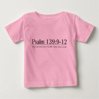 Lea el 139:9 del salmo de la biblia - 12 playera de bebé