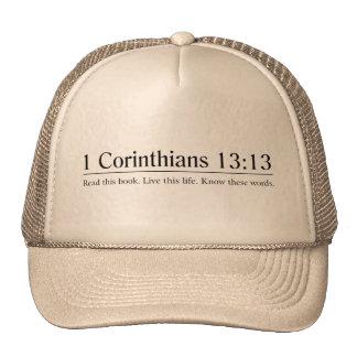 Lea el 13:13 de los Corinthians de la biblia 1 Gorras De Camionero
