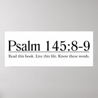 Lea el 145:8 del salmo de la biblia - 9 póster