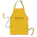 Lea el 14:12 de Juan de la biblia - 20 Delantal