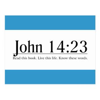 Lea el 14 23 de Juan de la biblia Tarjetas Postales