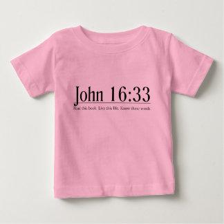 Lea el 16:33 de Juan de la biblia Playera De Bebé