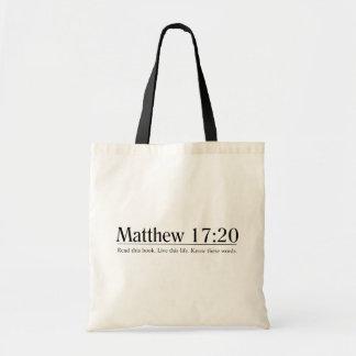 Lea el 17:20 de Matthew de la biblia Bolsas De Mano