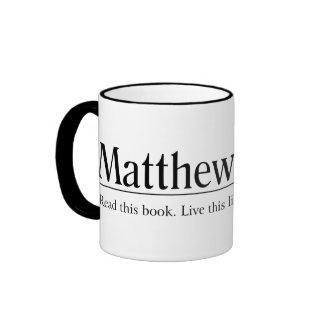 Lea el 17:20 de Matthew de la biblia Taza