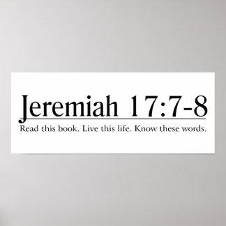 Lea el 17:7 de Jeremiah de la biblia - 8 Póster