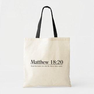 Lea el 18:20 de Matthew de la biblia Bolsas