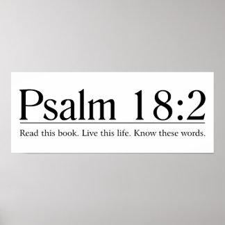 Lea el 18:2 del salmo de la biblia póster