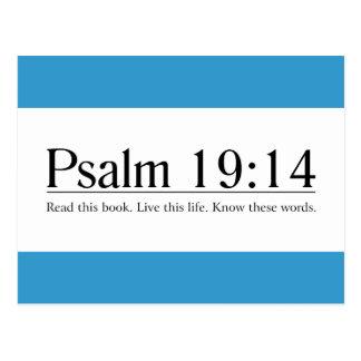 Lea el 19 14 del salmo de la biblia tarjeta postal